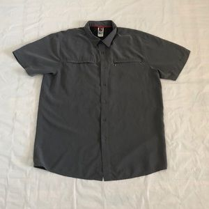 The North Face Men's Gray Vented Button Down Shirt